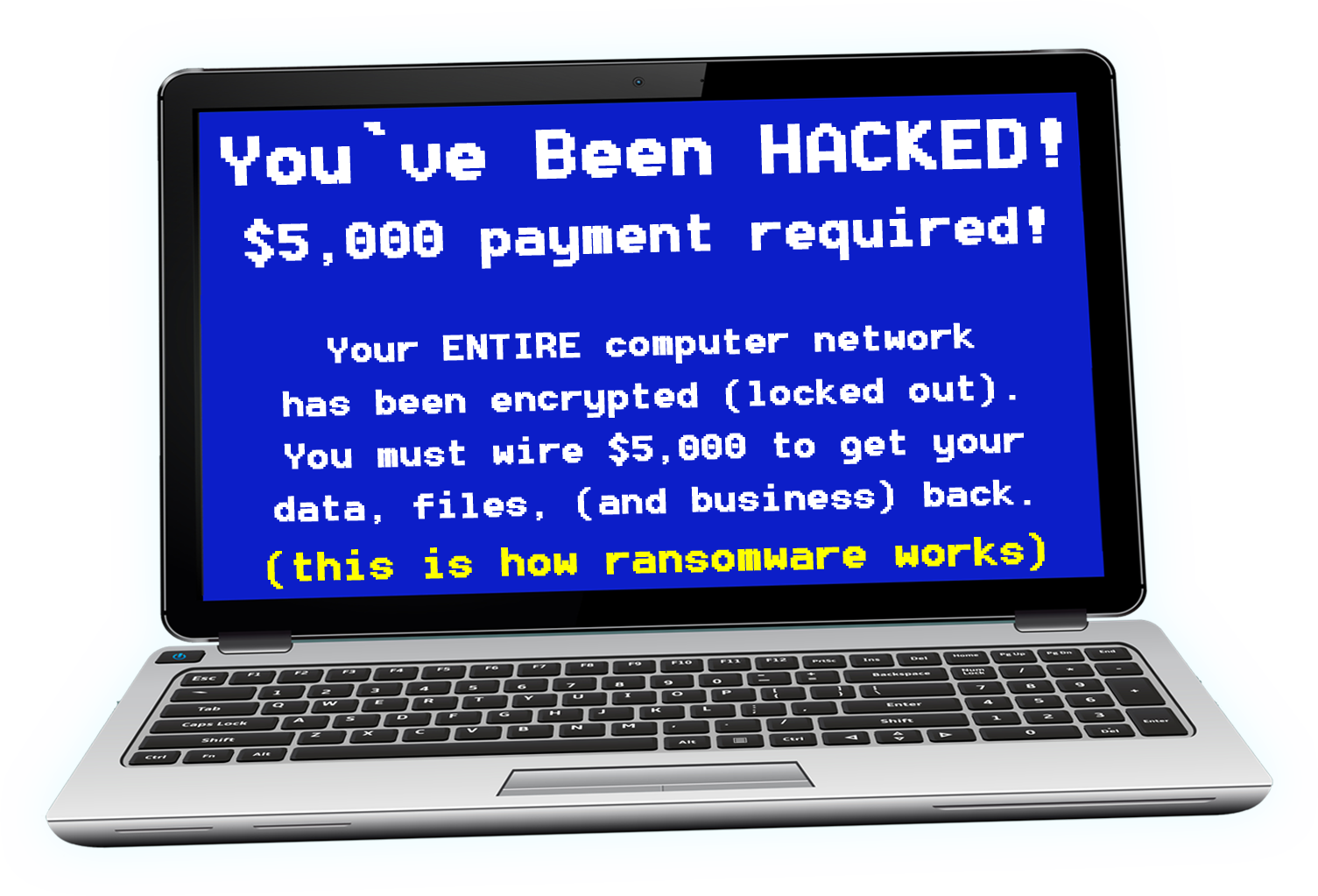 laptop with ransomware